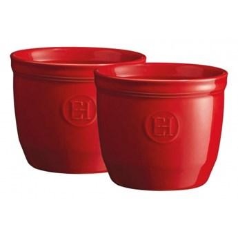 Zestaw dwóch miseczek do zapiekania typu ramekin - N°8 - czerwony kod: EH344008