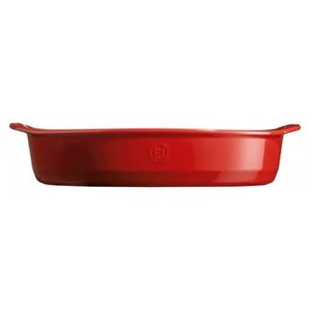 Duże owalne naczynie do zapiekania - 41x26cm - czerwony kod: EH349054