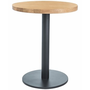 Okrągły stół na jednej nodze Puro II z laminowanym blatem