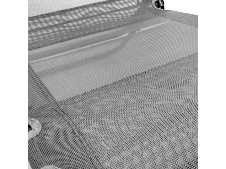 WYGODNY LEŻAK OGRODOWY 2-POZYCYJNY W KOLORZE SZARYM Z poduszką Kolor Czarny Metal Składane Kategoria Leżaki ogrodowe