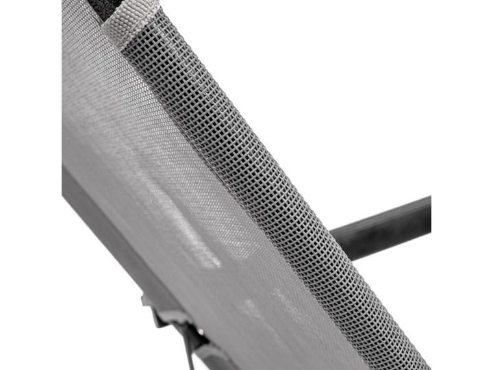 WYGODNY LEŻAK OGRODOWY 2-POZYCYJNY W KOLORZE SZARYM Metal Składane Z poduszką Kategoria Leżaki ogrodowe Kolor Czarny