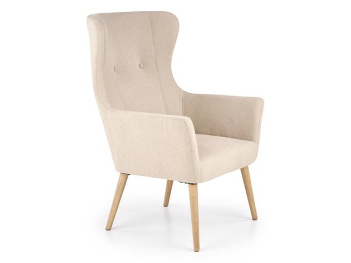 Fotel Cotto - 5 kolorów Jasny popiel Wysokość 43 cm Tkanina Styl Klasyczny Fotel uszak Głębokość 76 cm Wysokość 99 cm Szerokość 73 cm Drewno Styl Vintage