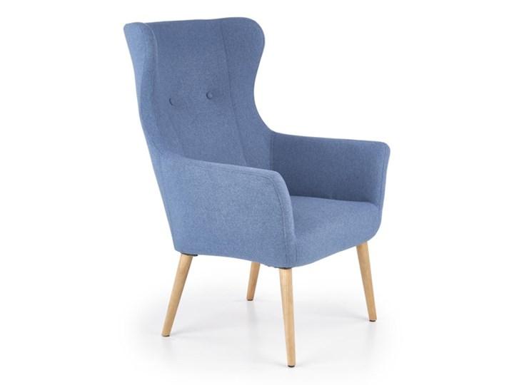 Fotel Cotto - 5 kolorów Jasny popiel Głębokość 76 cm Szerokość 73 cm Drewno Fotel uszak Wysokość 43 cm Wysokość 99 cm Kolor Szary Tkanina Pomieszczenie Salon