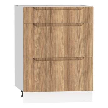 Szafka dolna z szufladami ZOYA D60 S/3 drewno naturalne