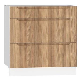 Szafka dolna z szufladami ZOYA D80 S/3 drewno naturalne