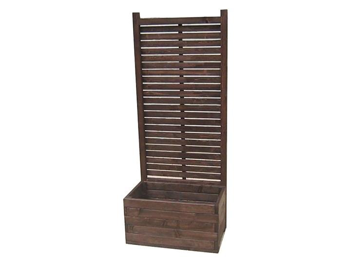 Drewniana prostokątna donica ogrodowa z pergolą - Luisa Drewno Donica balkonowa Prostokątny Kategoria Donice ogrodowe