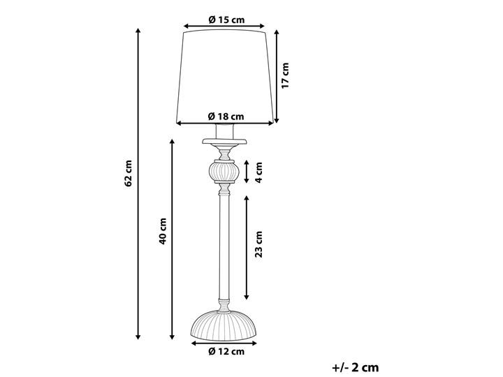 Lampa stołowa nocna biała srebrna nóżka styl glamour salon sypialnia Lampa nocna Kolor Biały Lampa z abażurem Styl Nowoczesny