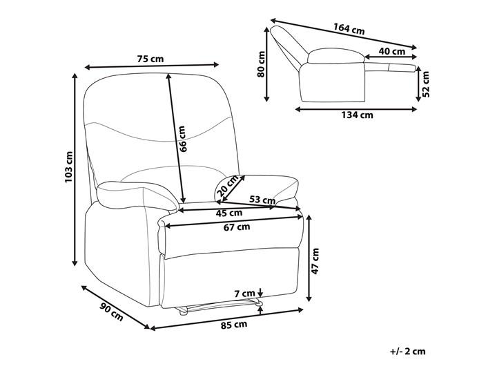 Rozkładany fotel telewizyjny czarny tapicerownany welurem rozkładane oparcie i podnóżek retro design Tkanina Fotel rozkładany Metal Tworzywo sztuczne Fotel inspirowany Styl Nowoczesny