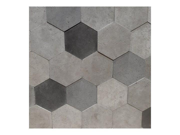 Płytka dekoracyjna betonowa Knap hexagon natural mix 0,392 m2 Płytki tarasowe Heksagon Mozaika Płytki ścienne Powierzchnia Matowa