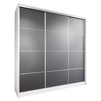 Szafa przesuwna z szufladami LOTUS 200 biały / czarny