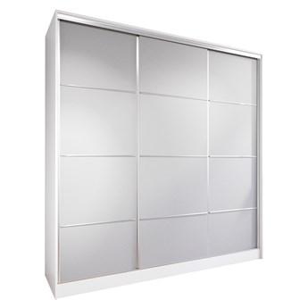 Szafa przesuwna z szufladami LOTUS 200 biały / szary