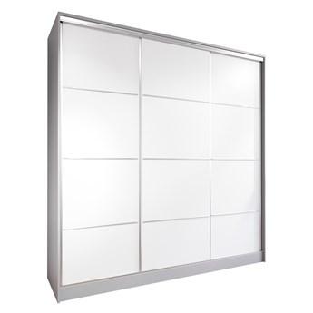 Szafa przesuwna z szufladami LOTUS 200 szary / biały