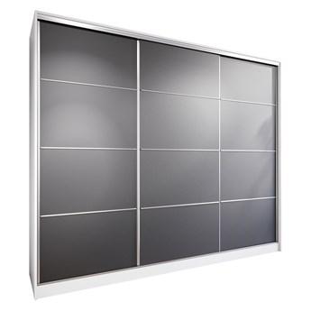 Szafa przesuwna z szufladami LOTUS 250 biały / czarny