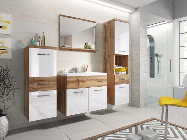 Meble wiszące mebli łazienkowych ALBA, Wotan - Biały połysk