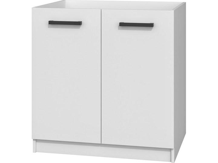 Biała szafka kuchenna pod zlew - Stejar 14X Pod zlewozmywak Drewno Płyta MDF Kolor Biały