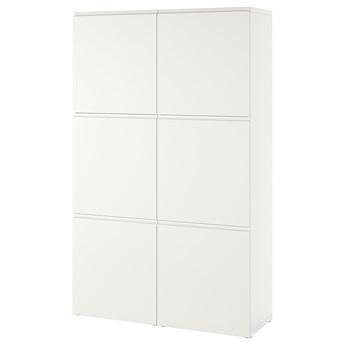 IKEA BESTÅ Kombinacja z drzwiami, Biały/Västerviken biały, 120x42x193 cm