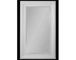 Białe lustro w drewnianej ramie- różne wymiary