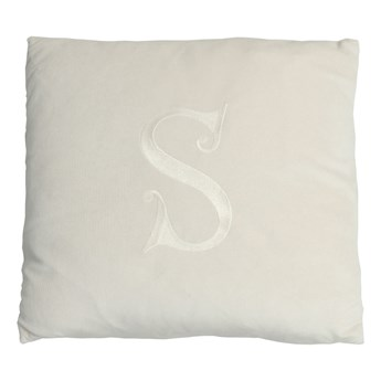 Poduszka dekoracyjna z wybraną literą - ecru