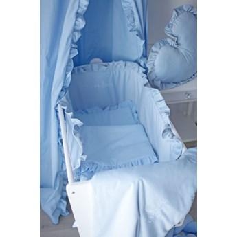 Pościel niemowlęca z falbanką z wypełnieniem- niebieski baby blue
