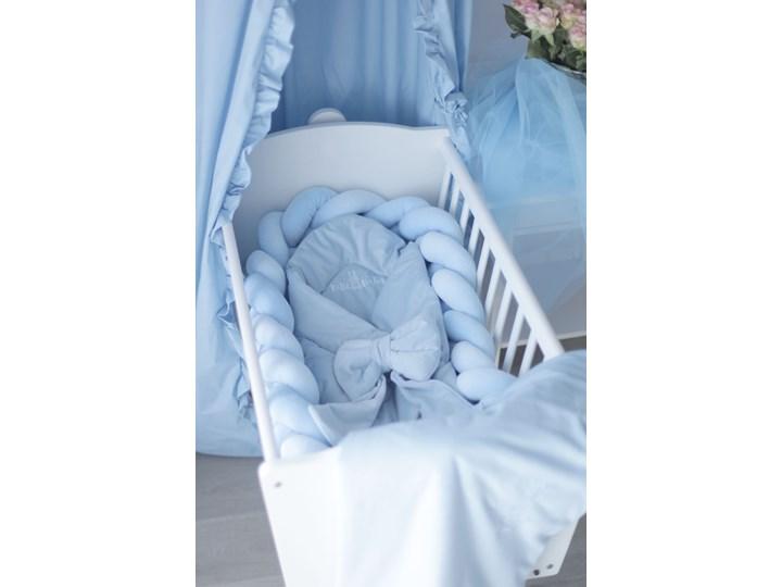Rożek/otulacz niemowlęcy z ozdobną kokardą - babyblue niebieski