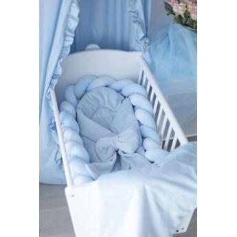 Warkocz, ochraniacz do łóżeczka 3 metrowy niebieski baby blue