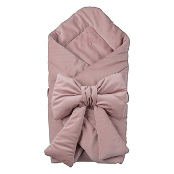 Cone / swaddle with a decorative bow - powder pink
