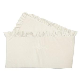 Ochraniacz do łóżeczka - opcja z falbanką lub bez falbanki - ecru
