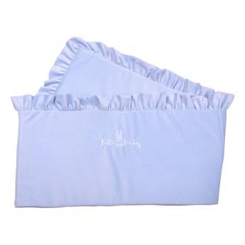 Ochraniacz do łóżeczka - opcja z falbanką lub bez falbanki - niebieski baby blue