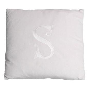 Poduszka dekoracyjna z wybraną literą - szary