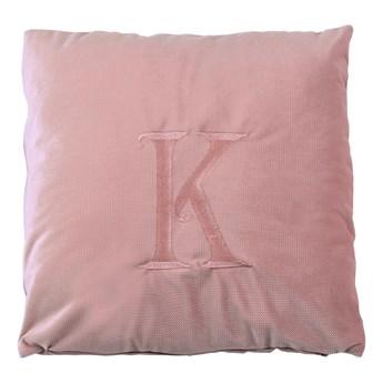 Poduszka dekoracyjna z wybraną literą - pudrowy róż