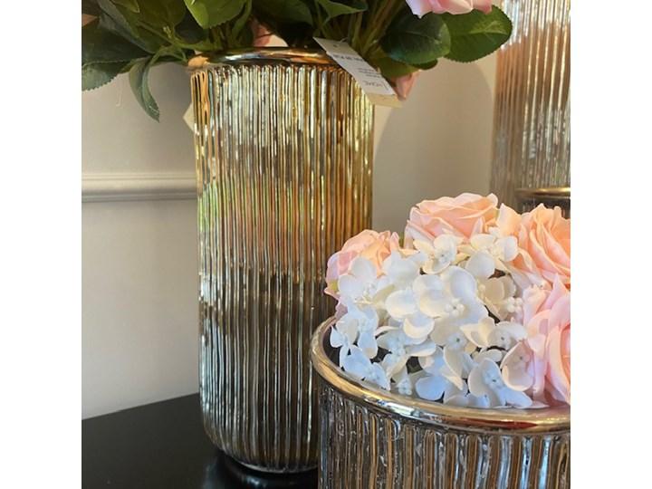 DONICZKA CERAMICZNA ZŁOTA  WALEC WYBIERZ ROZMIAR ALMI  14x20x20cm Kolor Złoty Ceramika Doniczka na kwiaty Osłonka na doniczkę Kategoria Doniczki i kwietniki