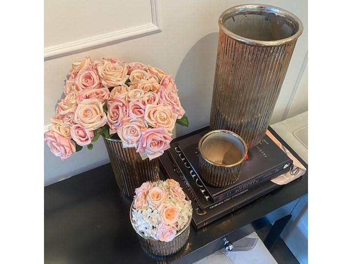 DONICZKA CERAMICZNA ZŁOTA  WALEC WYBIERZ ROZMIAR ALMI  12,5x13x13 cm Ceramika Doniczka na kwiaty Osłonka na doniczkę Kolor Złoty Kategoria Doniczki i kwietniki