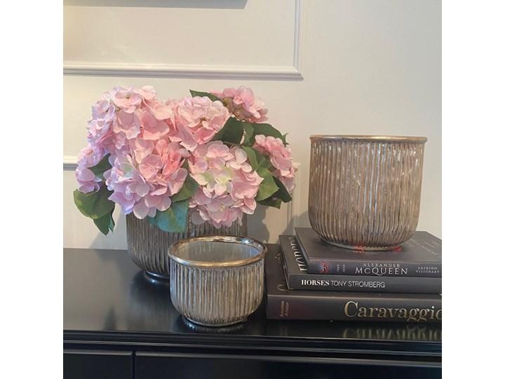 DONICZKA CERAMICZNA ZŁOTA  WALEC WYBIERZ ROZMIAR ALMI  14x20x20cm Ceramika Osłonka na doniczkę Kolor Złoty Doniczka na kwiaty Kategoria Doniczki i kwietniki