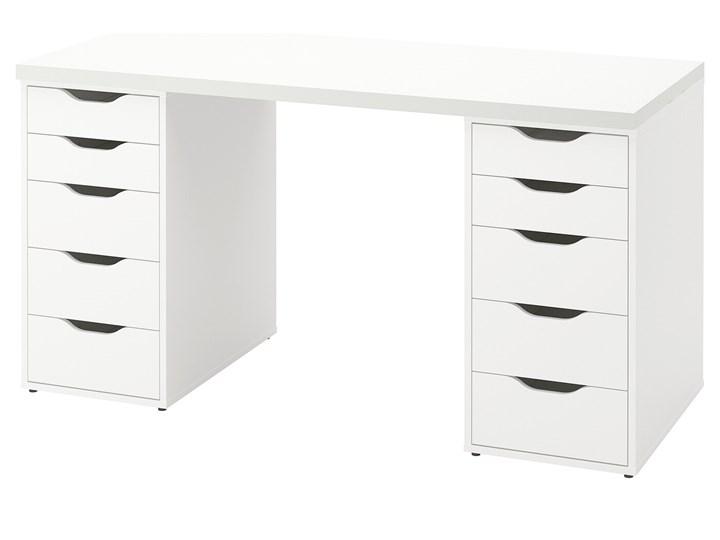 IKEA LAGKAPTEN / ALEX Biurko, Biały, 140x60 cm