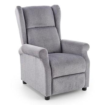 Fotel Agustin rozkładany tkanina - 2 kolory Popielaty
