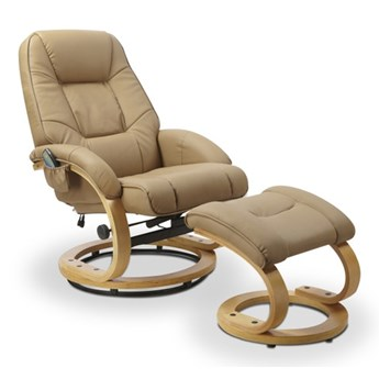 Fotel Matador z funkcją masażu Beżowy
