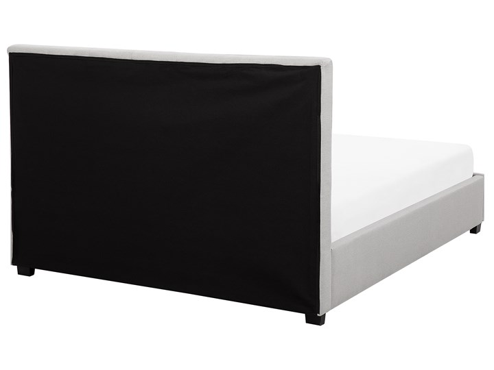 Łóżko jasnoszare tapicerowane 140 x 200 cm z pojemnikiem i stelażem pikowany zagłówek Kategoria Łóżka do sypialni Łóżko tapicerowane Kolor Szary