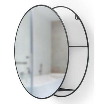 Okrągłe lustro z półką - Estim
