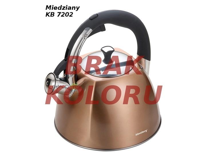 Czajnik Klausberg KB 7193 , 7194, 7195 , 7202 , 7258 Stalowy z gwizdkiem INDUKCJA metal 3 Litry WYBÓR Ze stali nierdzewnej Kolor Brązowy Kolor Czerwony