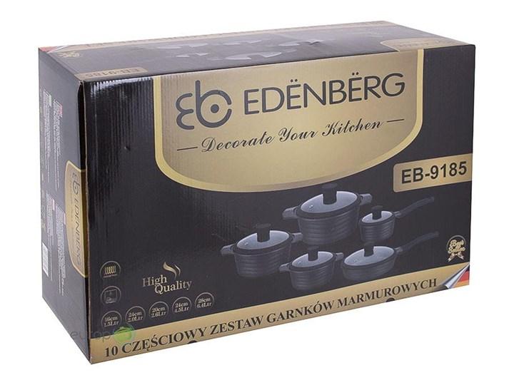 Zestaw garnków marmurowych Edenberg EB 9185 Garnek komplet indukcja Kategoria Zestawy garnków i patelni Aluminium Kolor Czarny