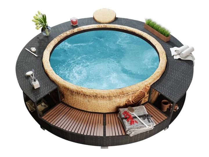 Obudowa spa z polirattanu, czarna Kategoria Akcesoria do basenów