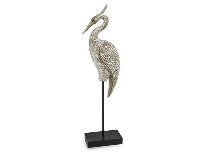 FIGURKA DEKORACYJNA CZAPLI NA POSTUMENCIE HERON 55x14x8cm Drewno Kategoria Figury i rzeźby