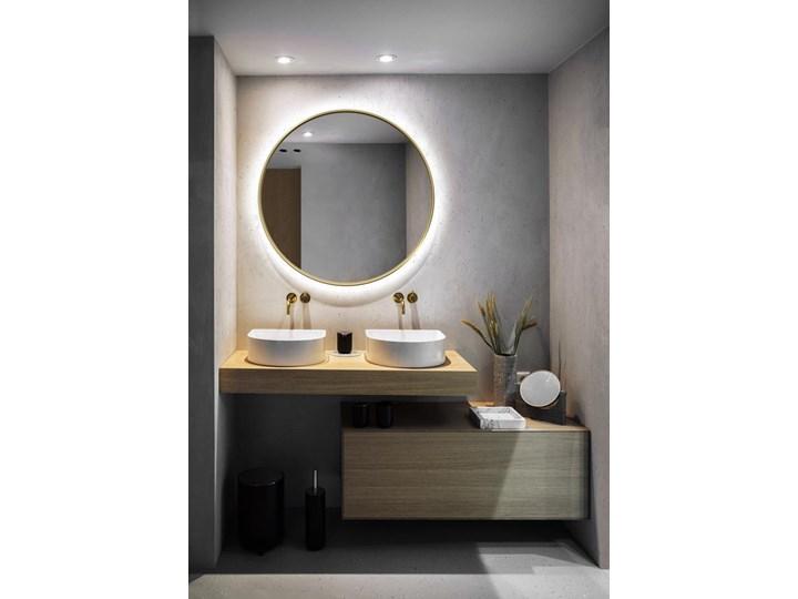 Lustro Scandi Slim podświetlane – złote Okrągłe Pomieszczenie Łazienka Lustro podświetlane Lustro z ramą Pomieszczenie Przedpokój
