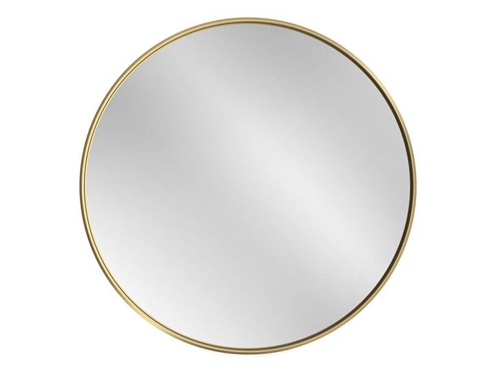 Lustro Scandi Slim podświetlane – złote Okrągłe Lustro z ramą Lustro podświetlane Pomieszczenie Sypialnia