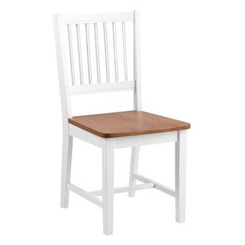 Brązowo-białe krzesło do jadalni z kauczukowca Actona Brisbane