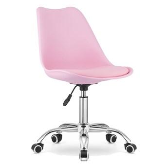 Krzesło obrotowe biurowe MSA009 różowe