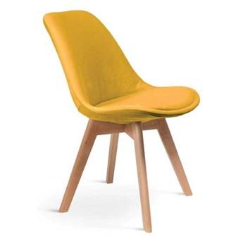 Krzesło tapicerowane Gugu nowoczesne tapicerowane drewniane nogi