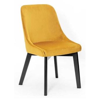 Krzesło tapicerowane Iwan na drewnianej nodze