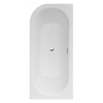 Wanna narożna Avita Slim +, 160x75 cm, asymetryczna, prawa, biała