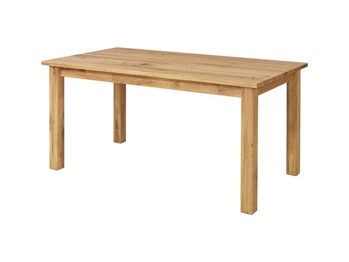 Stół dębowy Natur 180 + 2x40cm Soolido Meble Szerokość 90 cm Szerokość 80 cm Drewno Pomieszczenie Stoły do jadalni Długość 180 cm  Styl Nowoczesny